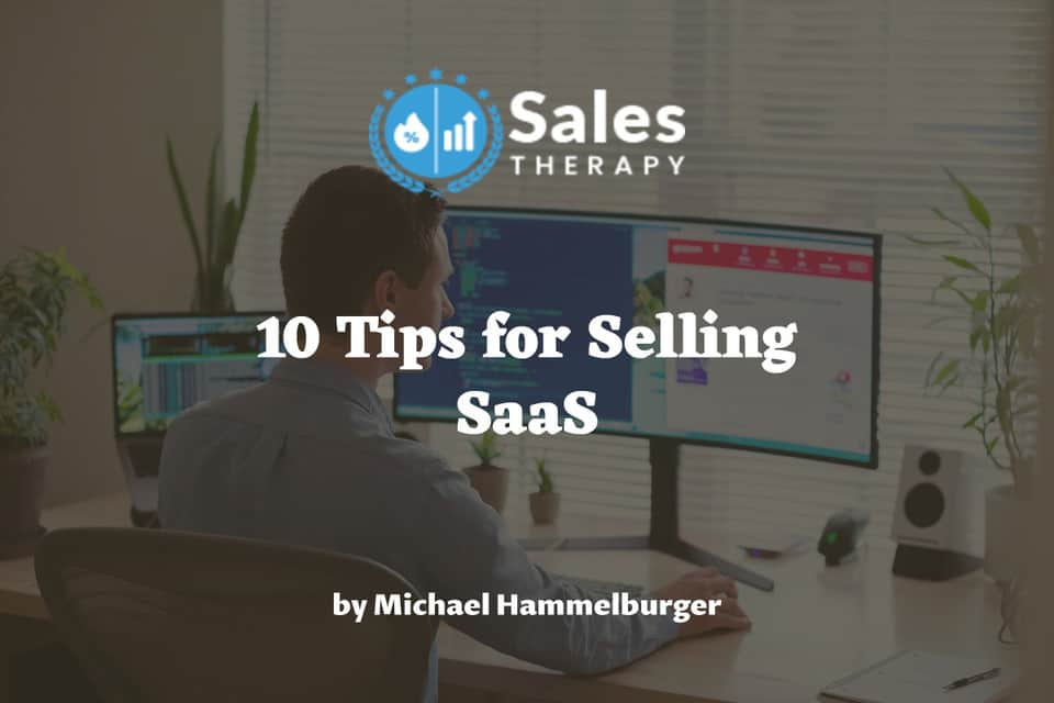 how to sell saas