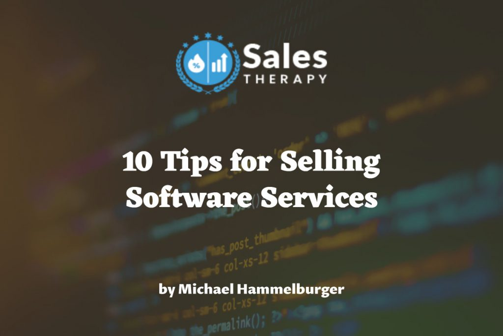 how to sell software services
