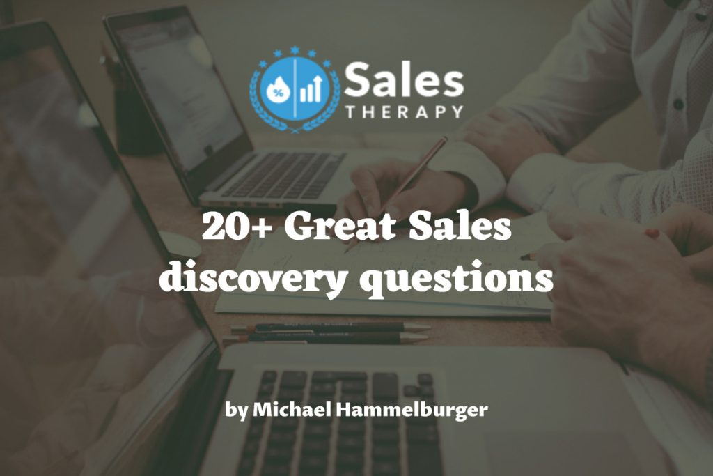 20+ Great Sales discovery questions