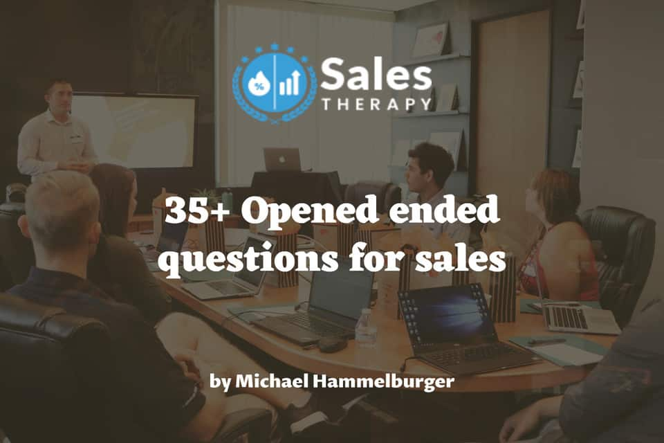 35+ Opened ended questions for sales